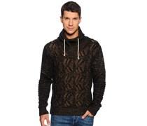 Pullover, schwarz/hellbraun, Herren