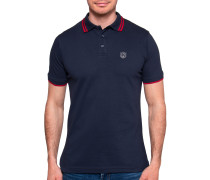 Kurzarm Poloshirt Regular Fit navy/rot