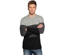 Pullover, schwarz/hellgrau, Herren