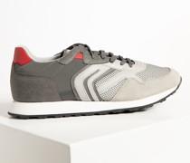 Sneaker hellgrau/grau/rot