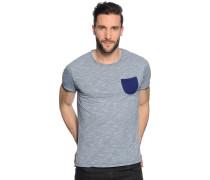T-Shirt, blau meliert, Herren