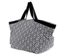Strandtasche schwarz/weiß