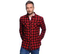 Flanellhemd Regular Fit, rot/schwarz/kariert, Herren
