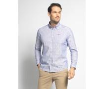 Langarm Hemd blau/weiß