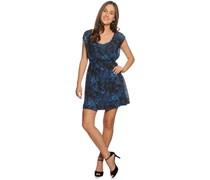 Kleid, blau/schwarz, Damen