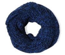 Loopschal, blau/schwarz, Damen