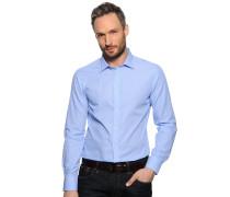 Hemd Slim Fit, blau/weiß gestreift, Herren