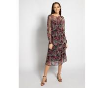 Kleid schwarz/altrosa/pink