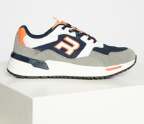 Sneaker grau/navy/orange