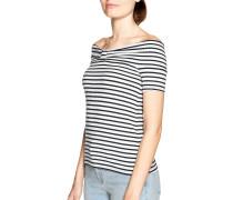 T-Shirt weiß/navy