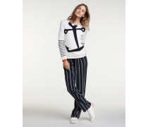 Pullover offwhite/navy