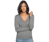 Pullover, grau meliert, Damen