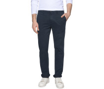 Chino Straight Fit, Blau, Herren