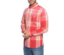 Hemd Regular Fit rot/weiß