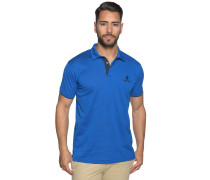 Kurzarm Poloshirt Regular Fit royalblau