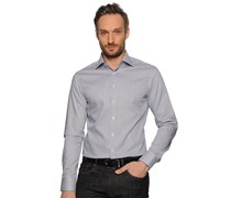 Hemd Custom Fit, navy/weiß gestreift, Herren