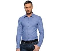 Hemd Custom Fit, blau/pink kariert, Herren