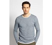 Pullover blau/grau
