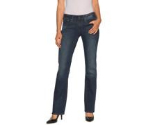 Jeans 3301 Mid Bootleg blau