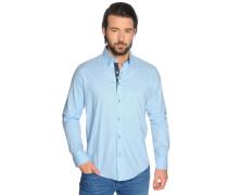 Hemd Custom Fit, Blau, Herren