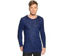 Pullover, blau melange, Herren