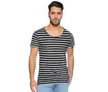 T-Shirt, schwarz/offwhite, Herren