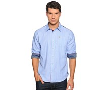 Hemd Custom Fit, blau gestreift, Herren
