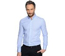 Hemd Slim Fit, blau weiß gestreift, Herren