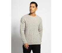 Pullover hellgrau meliert