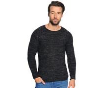 Pullover, schwarz melange, Herren