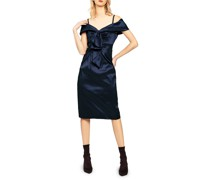 Taftkleid navy