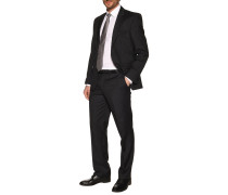 Business Gilberto Slim Fit schwarz gestreift