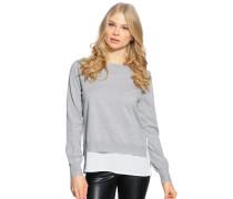 Pullover + Top, grau/weiß, Damen