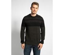 Pullover schwarz/grün