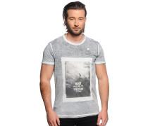 T-Shirt, schwarz/weiß, Herren