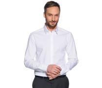 Stretchhemd Slim Fit, Weiss, Herren