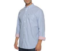 Business Hemd Relaxed Fit blau/weiß
