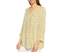 Blusenshirt gelb/weiß