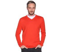 Pullover mit Kaschmir, Rot, Herren