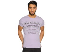 T-Shirt, flieder, Herren