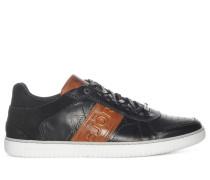 Sneaker, schwarz/cognac, Herren