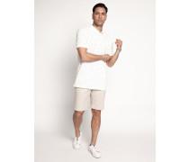 Kurzarm Poloshirt Regular Fit offwhite/schwarz