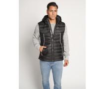 Jacke schwarz/grau meliert