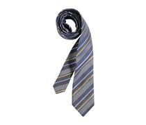 Krawatte, grau/navy/senf, Herren