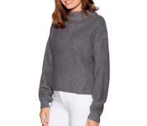 Pullover mit Kaschmiranteil mauve/grau