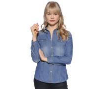 Jeansbluse, Blau, Damen