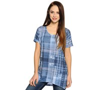 Longshirt, blau, Damen