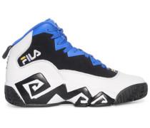 Sneaker, weiss/blau/schwarz, Herren