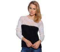 Pullover, weiß/schwarz, Damen