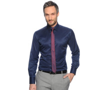 Hemd Slim Fit + Krawatte, navy, Herren